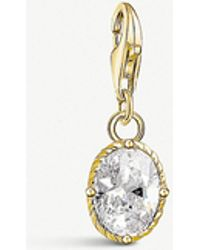 Thomas Sabo - Vintage Oval 18ct Yellow Gold-plated Charm - Lyst