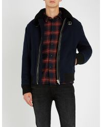 The Kooples - Padded Wool-blend And Faux-shearling Jacket - Lyst