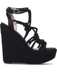 KG by Kurt Geiger - Notty Rope Detail Wedge Sandals - Lyst