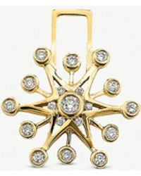 The Alkemistry - Robinson Pelham 14ct Yellow Gold And Diamond Snowflake Earwish - Lyst