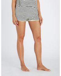 Tommy Hilfiger - Striped Cotton-blend Shorts - Lyst