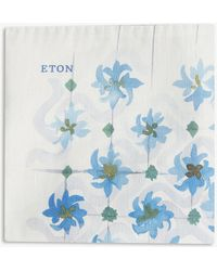 Eton of Sweden - Floral Tile Print Linen-blend Pocket Square - Lyst