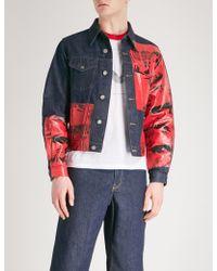 CALVIN KLEIN 205W39NYC - Andy Warhol-print Denim Jacket - Lyst