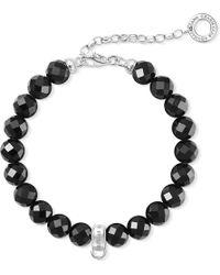 Thomas Sabo | Charm Club Obsidian Bead Charm Bracelet | Lyst