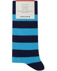 Björn Borg - Cotton-blend Striped Ankle Socks - Lyst