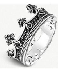 Thomas Sabo - Rebel Kingdom Crown Silver Ring - Lyst