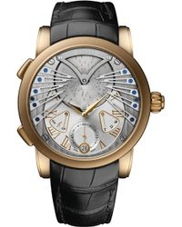 Ulysse Nardin - Classic Stranger 18 Carat Rose-gold And Alligator Watch - Lyst