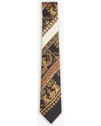 Versace - Baroque Leopard-print Silk Tie - Lyst