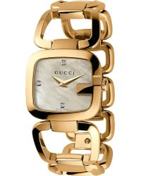 d12c13cf459 Gucci - Ya125513 G- Collection Yellow-gold Pvd Watch - Lyst