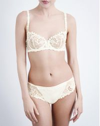 Simone Perele - Wish Stretch-tulle And Lace Underwired Half-cup Bra - Lyst