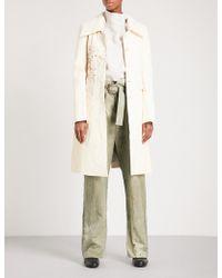 Cherevichkiotvichki - Paint-splattered Leather Coat - Lyst