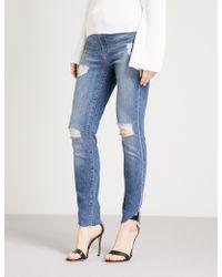 GOOD AMERICAN - Good Waist Cascade-hem Skinny High-rise Jeans - Lyst