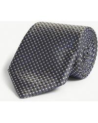 Corneliani - Square Print Silk Tie - Lyst