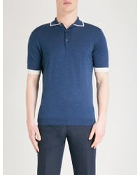 John Smedley - Haddon Wool Polo Shirt - Lyst