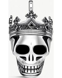 Thomas Sabo - Rebel Kingdom Skull Sterling Silver Pendant - Lyst