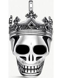 Thomas Sabo - Rebel Kingdom Skull Sterling Silver Pendant - Lyst