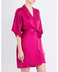 Nk Imode - Living-wear Silk-satin Robe - Lyst