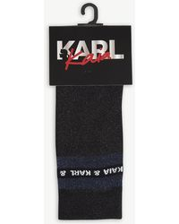 Karl Lagerfeld - Karl Lagerfeld X Kaia Metallic Knitted Socks - Lyst