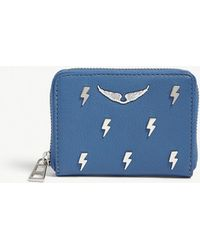 Zadig & Voltaire - Flash Lightning Bolt Leather Wallet - Lyst