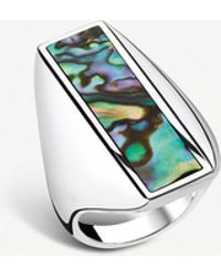 Thomas Sabo - Heritage Sterling Silver And Abalone Mother-of-pearl Ring - Lyst