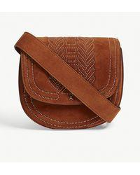 Altuzarra - Caramel Brown Ghianda Suede Saddle Bag - Lyst