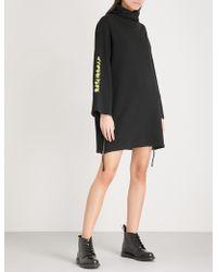 5cm - Funnel-neck Cotton-jersey Jumper Dress - Lyst