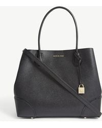 MICHAEL Michael Kors - Mercer Gallery Large Grained Leather Tote - Lyst