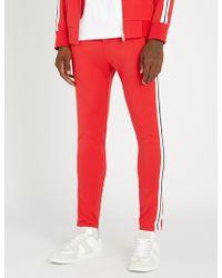 The Kooples - Side Stripe Cotton-jersey Jogging Bottoms - Lyst