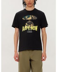 Aape Camouflage Logo-graphic Cotton-jersey T-shirt