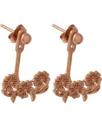 Olivia Burton - Floral Lace-detail 18ct Rose Gold-plated Jacket Earrings - Lyst