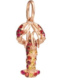 Annoushka - Mythology 18ct Rose-gold And Gemstone Lobster Charm - Lyst