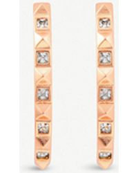 Kendra Scott - Zana 14ct Rose Gold-plated And Cubic Zirconia Earrings - Lyst