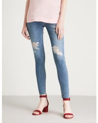 AG Jeans - Mila Ankle Raw Skinny High-rise Jeans - Lyst
