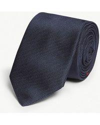 HUGO - Striped Silk Tie - Lyst