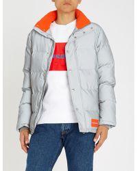 Calvin Klein - Reflective Shell Puffer Jacket - Lyst