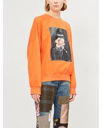 Izzue - Floral Box-print Cotton-jersey Sweatshirt - Lyst