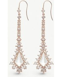 Kendra Scott - Reimer 14ct Gold-plated And Ivory Mother-of-pearl Earrings - Lyst