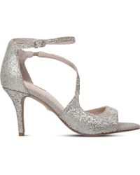 Carvela Kurt Geiger - Gamma Metallic Heeled Sandals - Lyst