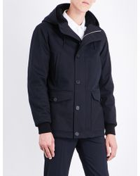 Sandro | Faux-fur Lined Hooded Cotton-blend Coat | Lyst