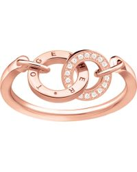 Thomas Sabo - Together Forever 18ct Rose Gold-plated Ring - Lyst