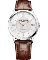 Baume & Mercier - Baume & Mercier 10263 Classima Alligator-leather Watch - Lyst