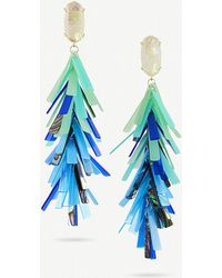 Kendra Scott - Justyne 14ct Gold-plated And Acrylic Tassel Earrings - Lyst