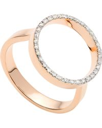 Monica Vinader - Naida Circle Open 18ct Yellow-gold Vermeil And Diamond Ring - Lyst