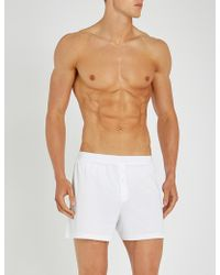 Pantherella - Sea Island Relaxed-fit Cotton Trunks - Lyst