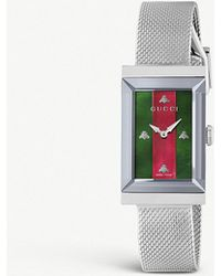 Gucci - Ya147401 Dive Striped Stainless Steel Watch - Lyst