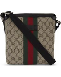 ce1292f48 Gucci Techno Canvas Messenger With Web in Black for Men - Lyst