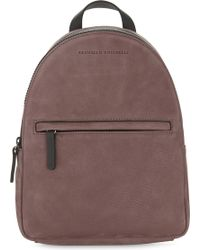 Brunello Cucinelli - Embellished Suede Backpack - Lyst