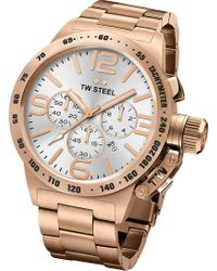 TW Steel | Cb163 Canteen Rose Gold Pvd-plated Stainless Steel Chronograph Watch | Lyst