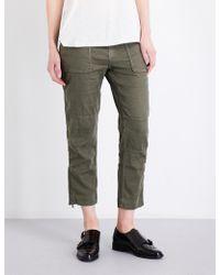 The Kooples - Betty Linen-blend Trousers - Lyst