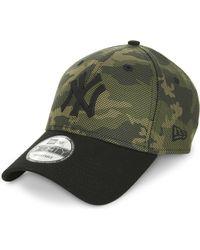 KTZ - New York Yankees Camo Cotton-blend Cap - Lyst